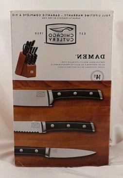 Chicago Cutlery 1109822 14-Piece Damen Knife Block Set.