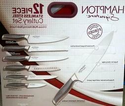 12 piece Stainless Steel Cutlery Set Kitchen Knives Hampton