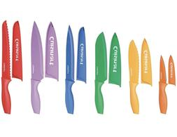 Cuisinart 12 Piece Color Knife Set with Blade Guards Non-sti