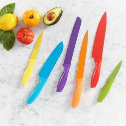 AmazonBasics 12-Piece Colored Knife Set