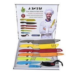 13 PCS Professional Chef Knife Set Multi Use Gift Box for Ho