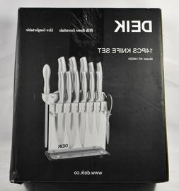 Deik 14 piece knife set with acrylic base new in original bo