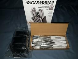 Farberware 15 Piece Stainless Steel Cutlery Set knives, scis