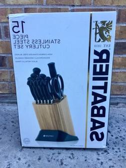 SABATIER 15 PIECE STAINLESS STEEL CUTLERY SET KNIVES BRAND N