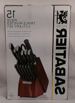 Sabatier 15-Piece Triple Riveted Forged Cutlery Set with Aca