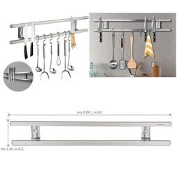 16'' Magnetic Knife Holder Double Bar Rack Wall Mounted for