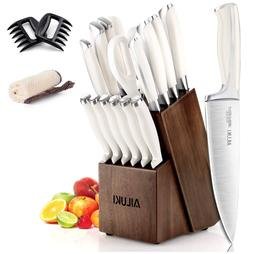 19-Piece German Stainless Professional Chef Kitchen Knife Se