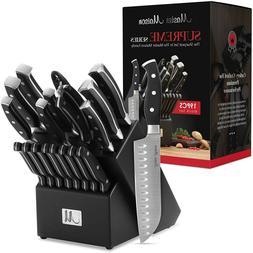 19 Piece Premium Kitchen Knife Set With Wooden Block German