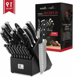 19-Piece Premium Kitchen Knife Set With Wooden Block.