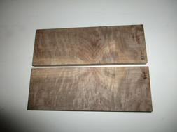 1MATCHING SET WESTERN WALNUT KNIFE SCALES, APPROX SIZE 7/16