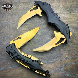 2 PC DARK KNIGHT Dual Spring Blade Assisted Open Pocket Knif