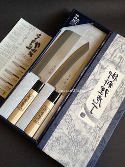2 PCS Japanese Shimomura Brand Chef's Kitchen Hocho Knife Se
