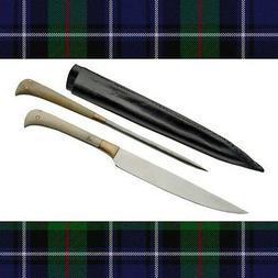 2 Piece Medieval Scottish Steak Knife & Pricker Set Bone Han