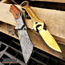 2PC MULTITOOL KNIFE SET Gold WRENCH KNIFE + Damask CLEAVER P