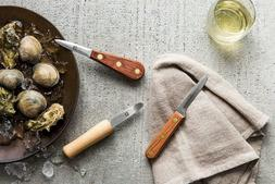 R Murphy 3 Piece Complete Oyster and Clam Knife Set Bundle C