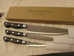 Gold Coast 3 Piece Knife Set BIN#1 NEW