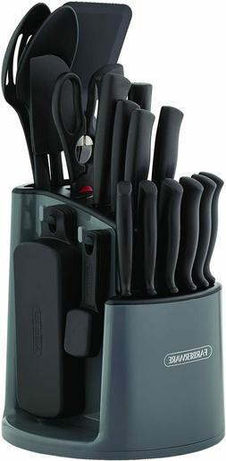 30-Piece Spin-and-Store Knife and Kitchen Tool Set with Rota