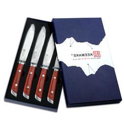 4 Pcs Damascus Chef's Steak Knives Set Japanese VG10 Steel U