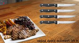 4 PC Steak Knife Premium Chef Kitchen Stainless Knives Set F
