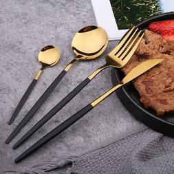 4pc Reusable Cutlery <font><b>Set</b></font> Mirror Polishin