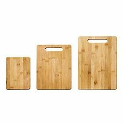 Farberware 5190597 3-Piece Bamboo Cutting Board Set, Assorte
