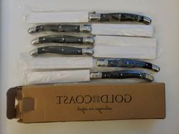 Gold Coast 6 Pc Steak Knife Set New in Box C