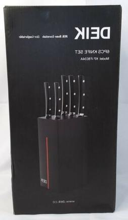 DEIK 6-Piece German Stainless Steel Kitchen Knives Set Tripl