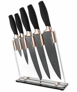 6 Piece Knife Set   5 Beautiful Rose Gold Knives with Knife