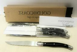Gold Coast 6 Piece Steak Knife Set New in Box Full Tang