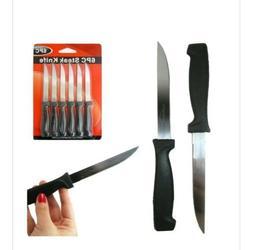 6 Piece Steak Knives Knife Set Kitchen Utensil Home Slice Cu