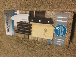 Farberware 6-Piece Triple-Riveted Knife Prep Set Black - Mis