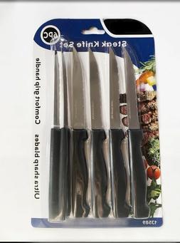 6 Steak Knife Set Stainless Steel Utility Knives Steakhouse