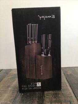 Emojoy 7 Pc Knife Set With Wooden Block. KC-KS19
