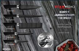 Chopmate 7 Piece Professional Knife Set Featuring Non-Stick