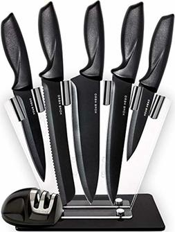7 Piece Stainless Steel Cutlery Knives Set by HomeHero - Kni