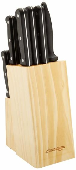 AmazonBasics 14-Piece Knife Set with High-carbon Stainless-s