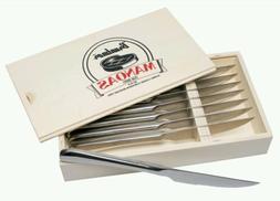 Bruntmor, Gourmet Stainless Steel 8-piece Steak Knife set wi