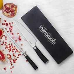 Chef's Kitchen Knife and Sharpener Professional Set 8 inch S