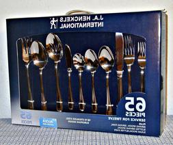 J.A. HENCKELS INTERNATIONAL 65-Piece Alcea Flatware Set