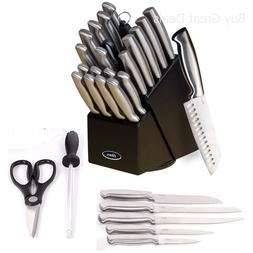 Quality Cutlery Block Set knife 22 pc stainless steel kitche