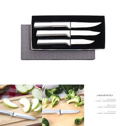Rada Cutlery Paring Knife Set – 3 Knives with Stainless St