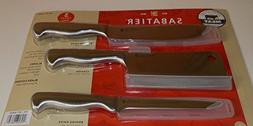 Sabatier 3 Piece Forged Japanese Stainless Steel Knife Set f