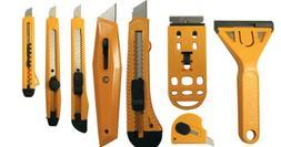 Utility Cutter Set Snap-Off Razor Knife Scraper Carton Box K
