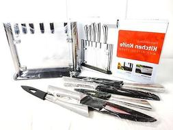 Utopia Kitchen 6 Pieces Knife Set, Stainless Steel with Acry