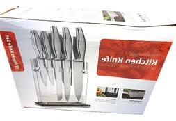 Utopia Kitchen Premium Class Stainless-Steel 12 Knife Set Wi