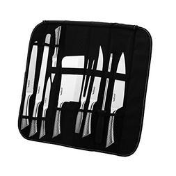 VonShef 9 Piece Assorted Kitchen Knife Carry Wrap Set With Z