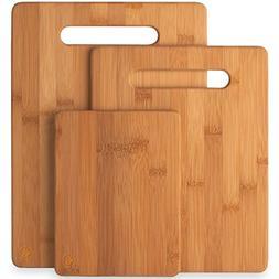 Premium Bamboo Cutting Board Set of 3, Wooden Chopping Board