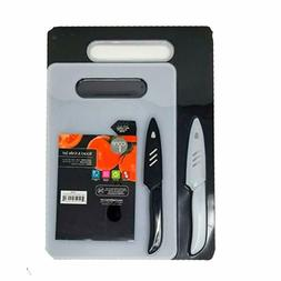 Core Kitchen Board and Knife Set w/ Two Knives and Two Cutti