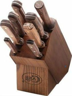 Case Cutlery CASE10249 Walnut Kitchen Knife Set 9 Pc w/Woode