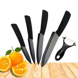 Ceramic Knife 3 4 5 6 inch Black Blade Peeler Slicer Kitchen